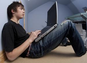 Teenager-on-Laptop